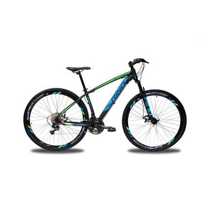 Bicicleta Rino Everest T17 Aro 29 Susp. Dianteira 24 Marchas - Azul/verde