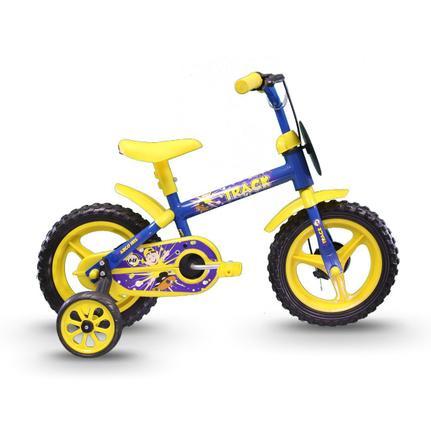 Bicicleta Track&bikes Arco-íris Aro 12 Rígida 1 Marcha - Amarelo/azul