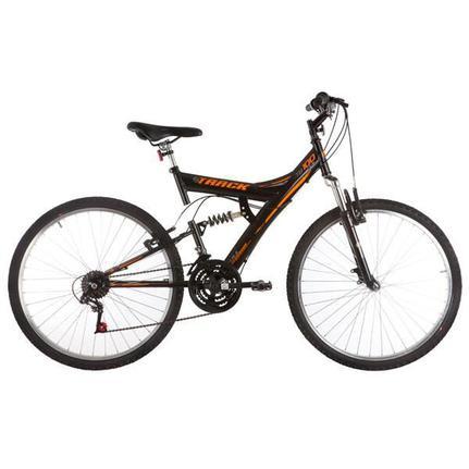 Bicicleta Track&bikes Tb100xs Aro 26 Full Suspensão 18 Marchas - Preto/vermelho