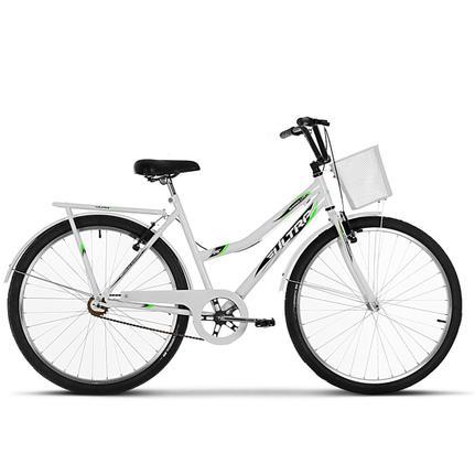 Bicicleta Ultra Bikes Tropical Vb Aro 26 Rígida 1 Marcha - Branco