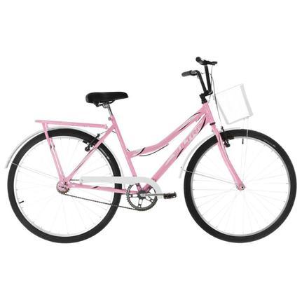 Bicicleta Ultra Bikes Poti Wave Aro 26 Rígida 1 Marcha - Bege