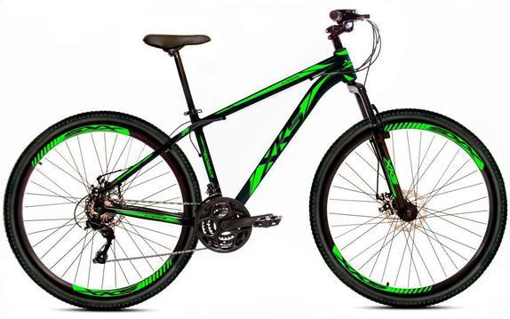 Bicicleta Xks Kairos T17 Aro 29 Susp. Dianteira 21 Marchas - Preto/verde