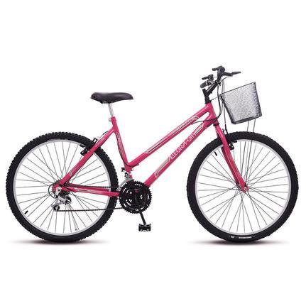 Bicicleta Colli Bike Allegra City Aro 26 Rígida 18 Marchas - Rosa