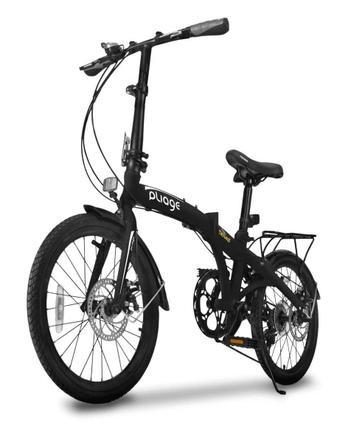 Bicicleta Two Dogs Pliage Plus Aro 20 Rígida 7 Marchas - Preto
