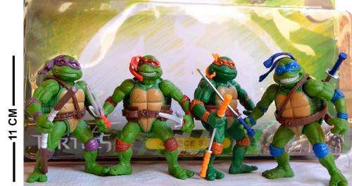 Boneco Tartaruga Ninja Kit Com 4 Com Acessorios Ptoys Bonecos
