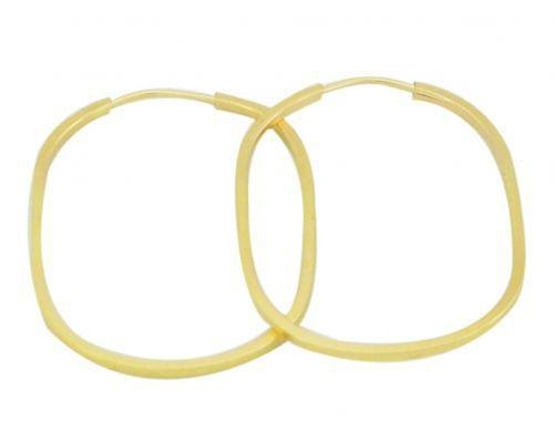 e7b85f59b38aa Brincos argola oval ouro 18k - Usejoias - Brinco - Magazine Luiza