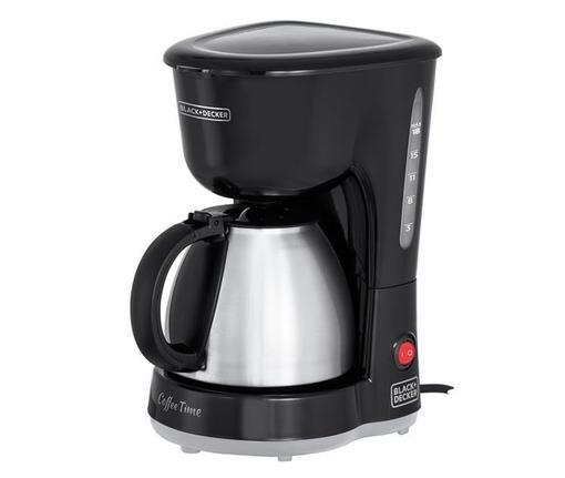 Cafeteira Elétrica Black & Decker Inox Preto 110v - Cm15