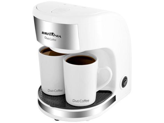 Cafeteira Elétrica Britania Duo Coffee Branco 110v