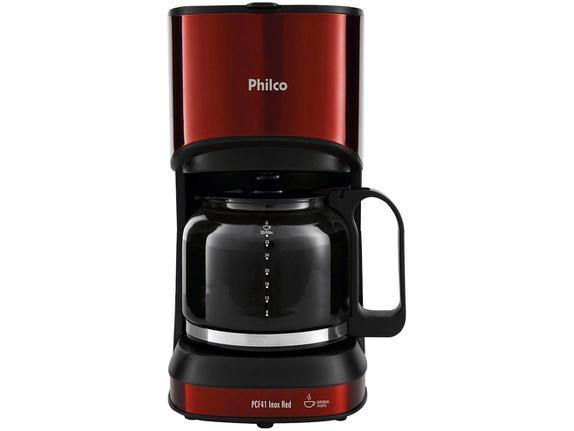 Cafeteira Elétrica Philco Inox Red Vermelho 110v - Pcf41
