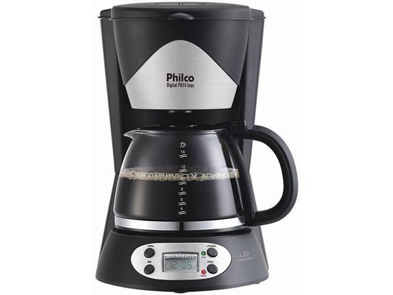 Cafeteira Elétrica Philco Digital Inox Preto 110v - Ph14