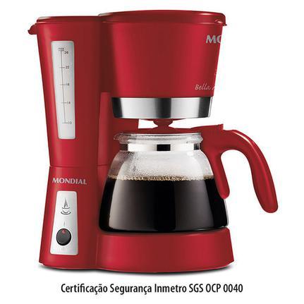 Cafeteira Elétrica Mondial Bella Arome Ii Red Premium Vermelho 110v - C-26