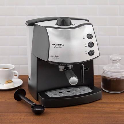 Cafeteira Expresso Mondial Coffee Cream Preto 110v - C08
