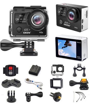 Câmera Digital Eken Esportiva 4k Preto 14.0mp - H6s