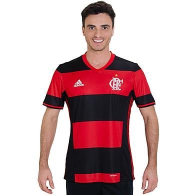 Camisa Flamengo Adidas Rubro Negra Jogo 2016 Torcedor - Camisa de ... 145bb7f6d761f