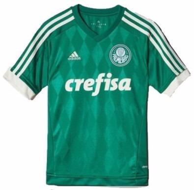34e8aa2fb7844 Camisa Palmeiras Infantil Original adidas 2015 / 2016 Verde - Camisa ...