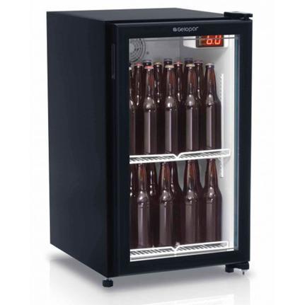 Geladeira/refrigerador 112 Litros 1 Portas Preto - Gelopar - 110v - Gptu120pr