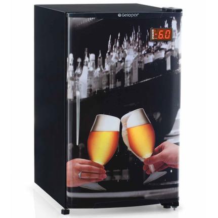Geladeira/refrigerador 120 Litros 1 Portas Adesivado - Gelopar - 220v - Grba120qc