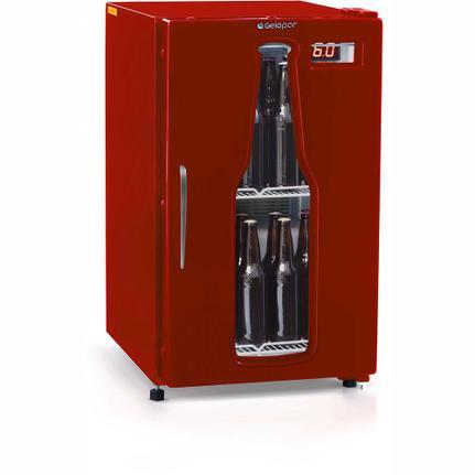 Geladeira/refrigerador 112 Litros 1 Portas Vermelho - Gelopar - 110v - Grba120vm