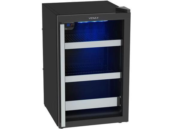 Geladeira/refrigerador 82 Litros 1 Portas Preto Blue Light - Venax - 110v - Expvq100