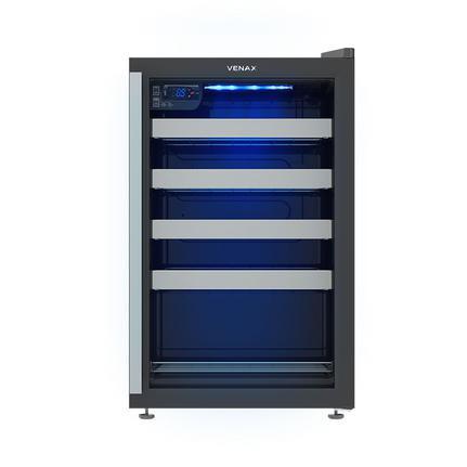 Geladeira/refrigerador 100 Litros 1 Portas Preto Color Light - Venax - 110v - Expvq100