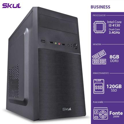 Desktop Skul Business B300 B41301208 I3-4130 3.40ghz 8gb 120gb Intel Hd Graphics