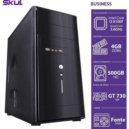 Desktop Skul Business B9100f5004 I3-9100f 3.60ghz 4gb 500gb Intel Hd Graphics