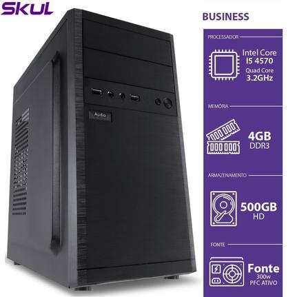 Desktop Skul Business B500 B45705004 I5-4570 3.30ghz 4gb 500gb Intel Hd Graphics Sem Monitor