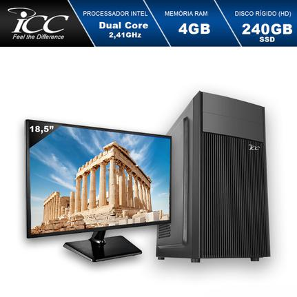 Desktop Icc Iv1847sm18 Celeron J1800 2.41ghz 4gb 240gb Intel Hd Graphics Linux Com Monitor