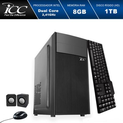 Desktop Icc Iv1882k Celeron J1800 2.41ghz 8gb 1tb Intel Hd Graphics Linux Sem Monitor