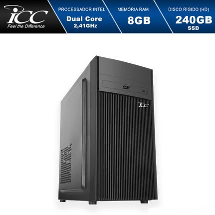 Desktop Icc Iv1887d Celeron J1800 2.41ghz 8gb 240gb Intel Hd Graphics Linux Sem Monitor