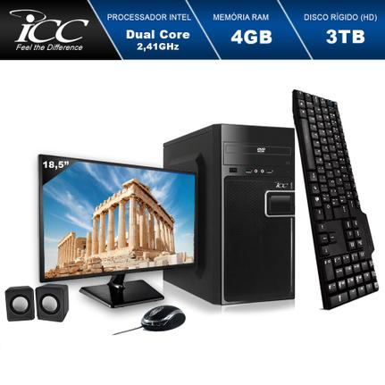 Desktop Icc Iv1844cm18 Celeron J1800 2.41ghz 4gb 3tb Intel Hd Graphics Linux Com Monitor