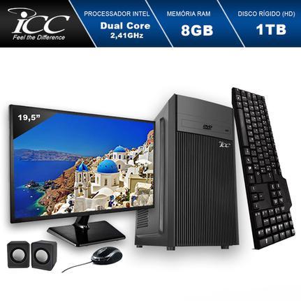 Desktop Icc Iv1882cm19 Celeron J1800 2.41ghz 8gb 1tb Intel Hd Graphics Linux Com Monitor