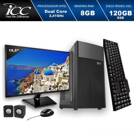 Desktop Icc Iv1886km19 Celeron J1800 2.41ghz 8gb 120gb Intel Hd Graphics Linux Com Monitor