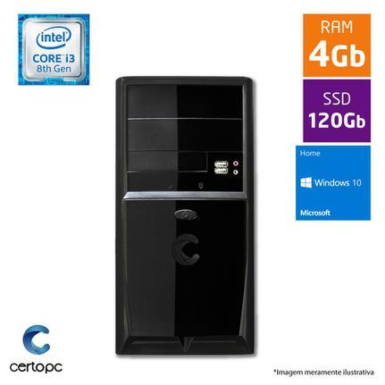 Desktop Certo Pc Smart 1020 I3-8100 3.60ghz 4gb 120gb Intel Hd Graphics Linux Sem Monitor