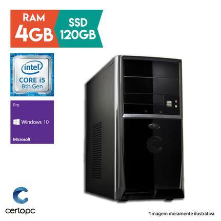 Desktop Certo Pc Select 1015 I5-8400 4.0ghz 4gb 120gb Intel Hd Graphics Windows 10 Pro Sem Monitor