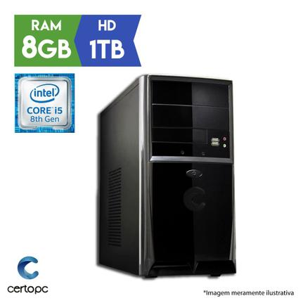 Desktop Certo Pc Select 1007 I5-8400 2.80ghz 8gb 1tb Intel Hd Graphics Linux Sem Monitor