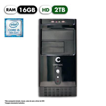 Desktop Certo Pc Select 1225 I5-9400 2.90ghz 16gb 2tb Intel Hd Graphics Linux