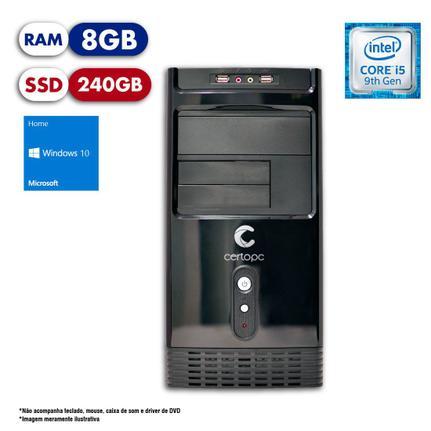 Desktop Certo Pc Select 1205 I5-9400 3.60ghz 8gb 240gb Intel Hd Graphics Windows 10 Pro Sem Monitor