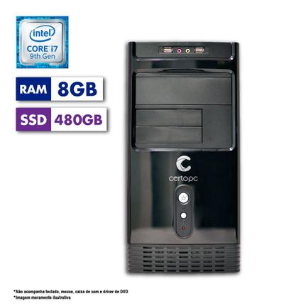 Desktop Certo Pc Desempenho 1210 I7-9700 2.90ghz 8gb 480gb Intel Hd Graphics Linux Sem Monitor