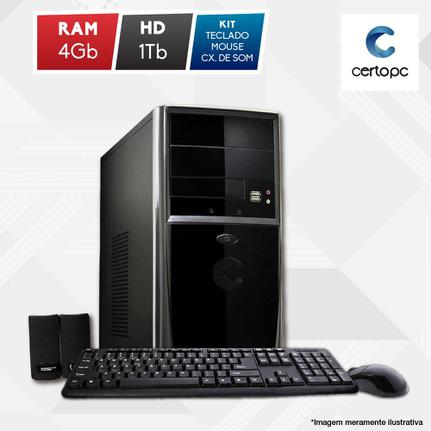 Desktop Certo Pc Fit1027 Celeron J1800 2.41ghz 4gb 500gb Intel Hd Graphics Linux Sem Monitor