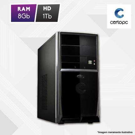 Desktop Certo Pc Fit1073 Celeron J1800 2.41ghz 8gb 1tb Intel Hd Graphics Linux Sem Monitor