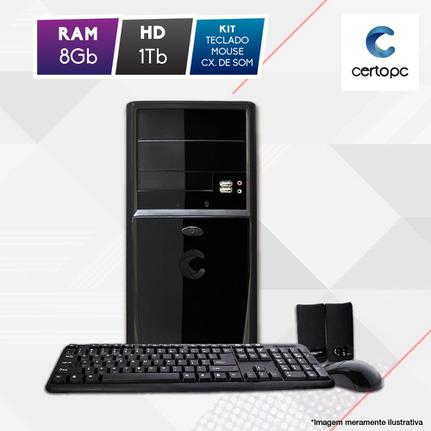 Desktop Certo Pc Fit1075 Celeron J1800 2.41ghz 8gb 1tb Intel Hd Graphics Linux Sem Monitor