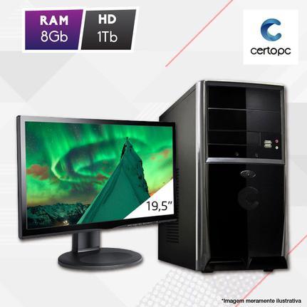 Desktop Certo Pc Fit1089 Celeron J1800 2.41ghz 8gb 1tb Intel Hd Graphics Linux Com Monitor