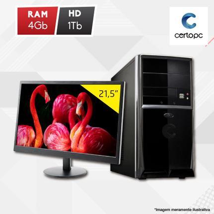 Desktop Certo Pc Fit1115 Celeron J1800 2.41ghz 4gb 1tb Intel Hd Graphics Linux Com Monitor