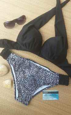 ac96fe0f8 Imagem de Conjunto Biquíni Plus Size Sutiã Bojo Frente Única Com  Sustentação E Calcinha Fru-