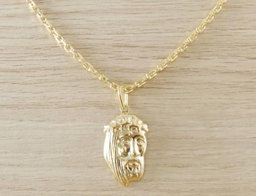 43159586120f7 Corrente Masculina Cordão 50cm 3,5mm e Pingente Face de Jesus Tudo Folheada  á Ouro. Cod  1819 1929 - Gabriela costa semi jóias R  79,99 à vista