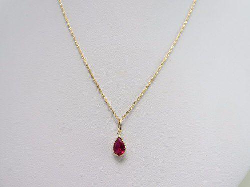 Imagem de Corrente Singapura 45cm Ponto De Luz Gota Vermelha De Ouro 18k 750 c7dce22f54