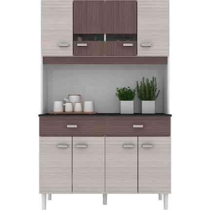Cozinha Compacta 8 portas e Gavetas Manu - Poquema