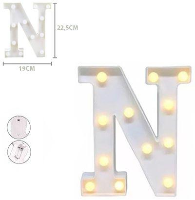 Enfeite luminoso letra n c/12 ledsde plastico - Fwb