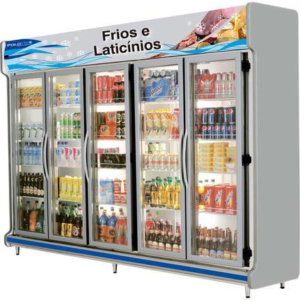 Geladeira/refrigerador 2088 Litros 5 Portas Cinza - Polofrio - 110v - 2208